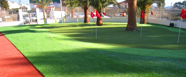 cesped artificial golf, Instalar césped artificial golf y mini gof