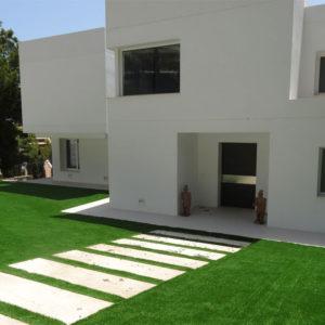 Jardines con Césped Artificial. Césped residencial